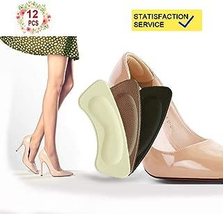 Heel Cushion Inserts | Heel Grips, Shoe Inserts Women(12pieces Foot Heel Pads) Shoe Grips Liner Self-AdhesiveHeel Protectors