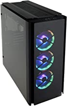 CORSAIR OBSIDIAN 500D RGB SE Mid-Tower Case, 3 RGB Fans, Smoked Tempered Glass, Aluminum..