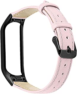 for Samsung Galaxy fit-e R375,Tonsee PU Leather Watch Band Strap Bracelet Metal Frame Wrist Band with Stainless Steel Buckle Fit 140mm-203mm