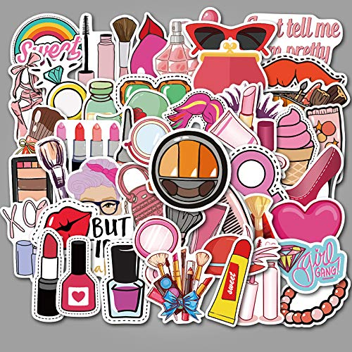 Meisjes cosmetica meisjes schattige koffer cartoon sticker super waterdichte graffitikoffer sticker 50 vellen