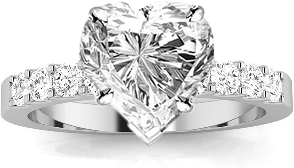Special Campaign 14K White Gold 4.5 Carat LAB DIAMOND CERTIFIED GROWN IGI Shipping included Classic