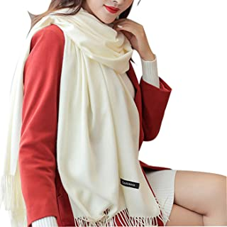 Womens Soft Cashmere Wool Scarf, Extra Large Thick Soft Winter Pashmina Shawl Wraps Scarves