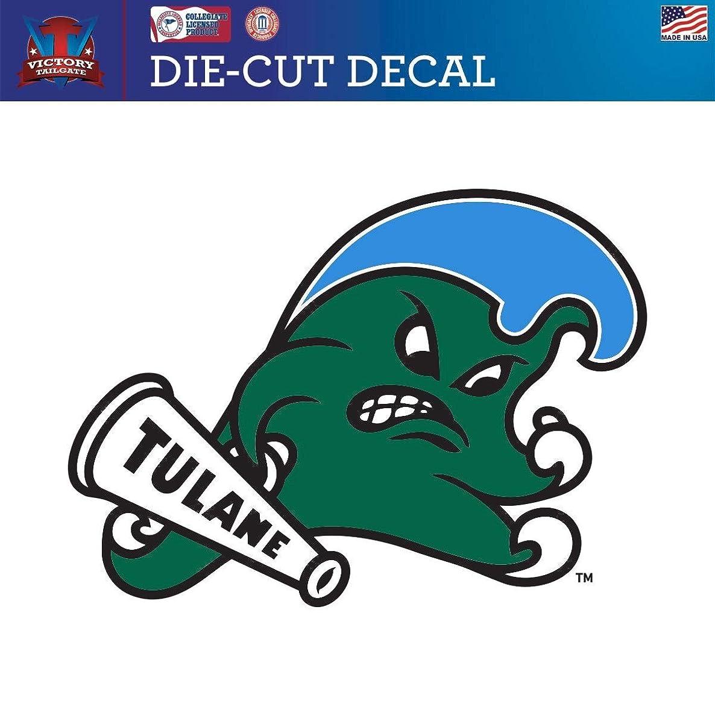 Victory Tailgate Tulane University Green Wave Die-Cut Vinyl Decal