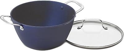 Cuisinart CastLite Non-Stick Cast Iron Dutch Oven with Cover, 5.25-Quart, Blue on Blue