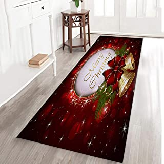 Large Floor Mat Christmas,Quaanti Xmas Snowman Christmas Tree Rug Carpet Dining Room Mat for Living Room Carpet Kitchen Bath Mat Home Decor (D)