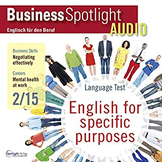 Business Spotlight Audio - Negotiating effectively. 2/2015 Titelbild