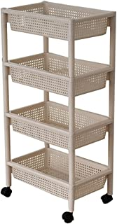 Étagères de rangement à 4 niveaux multifonctions Cadre de rangement blanc Grand carré ouvert Panier de rangement en plasti...