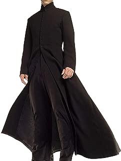 Prime-Fashion Men's Trench Coat Winter Long Jacket Long Overcoat