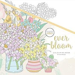 Kaisercraft KaiserColour Perfect Bound Coloring Book-Ever Bloom, 24.61×24.61×0.71 cm, Multicoloured