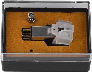 HaiQianXin Stylus de Cartucho magnético con Aguja de Vinilo LP para Tocadiscos giradiscos, Rendimiento Superior, Parte Inferior de Sonido Grueso, función de grabación precisa