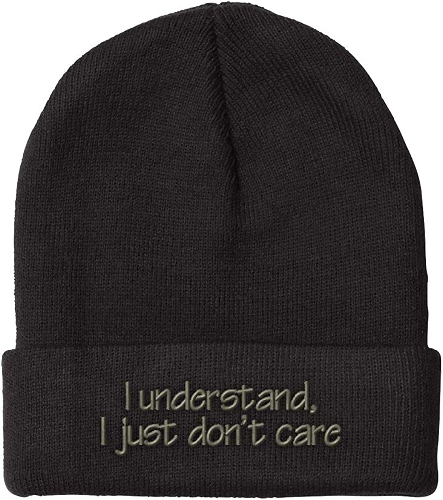 Speedy Ranking TOP5 Pros Beanies for Men I Don't Just Care Embroidery Max 53% OFF Winter