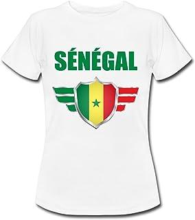 47a9b5d03e158 yonacrea T-Shirt Enfant - Sénégal - Coupe du Monde de Football 2018 - Prénom