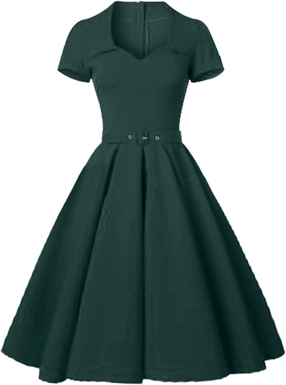 GownTown Women's 1950s Retro Vintage Party Swing Dress