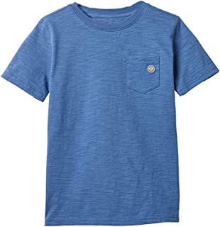 TIANRUN Toddler Boys Girls Cotton Solid T Shirt Blouse for 18M-10 Years Old Kids Children PoloT-Shirt Summer Clothes Blue