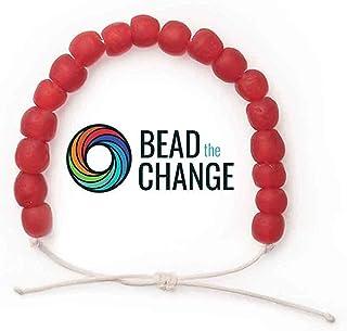 Recycled Glass Beads Bracelet - Save the Elephants Recycled Plastic Charity Bracelet