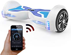 """TOMOLOO 6.5"""" Two-Wheel Hoverboard, Kids Hover Board with Bluetooth and Lights, Hoverboard for Adults and Kids, UL2272 Cert..."""