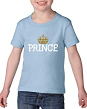 Blue Tees Prince Crown Gold Matching Couples Toddler Kids T-Shirt Tee Clothing