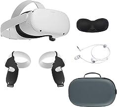 2020 Oculus Quest 2 All-in-One VR Headset, 256GB SSD, Óculos Compitble, Áudio 3D, Mytrix Maleta, fone de ouvido, aperto Ta...
