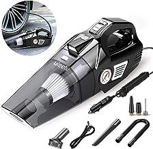 Car Vacuum, Uleete 2 in 1 Portable Car Vacuum Cleaner with Air Compressor Pump, DC12V..