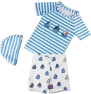 子供用の水着 男の子 分割 シーサイド 日焼け止め 速乾性 水着 スイミングトランク (サイズ : M)