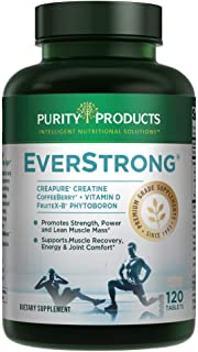EverStrong - Muscle Matrix Blend - Creapure Creatine - Boron (FruiteX-B PhytoBoron) - CoffeeBerry Extract - Boosted with 1000 IU Vitamin D - 120 Tablets from Purity Products