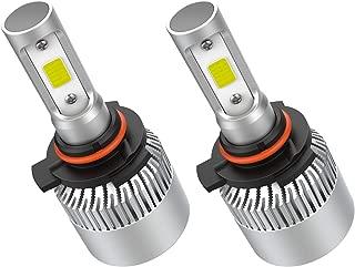 Crownova 9012 Led Headlight Bulbs, S2 Series Flip COB Chips, 3600lm Hi/Lo Beam, 6500k Cool Daylight (9012 HIR2)