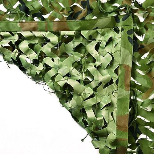 Chunlan Jungle Filet De Camouflage étanche Ignifuge Tissu Oxford Support De Maille en Nylon Fixation des Bords pour Famille Filet D'ombrage (Taille   10X10m)