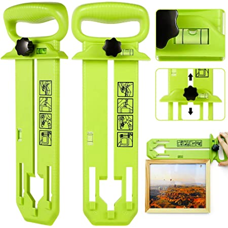 Hanging Frame Hanger Picture Photo Home Easy Wall Tool Decor Level Ruler Hanging
