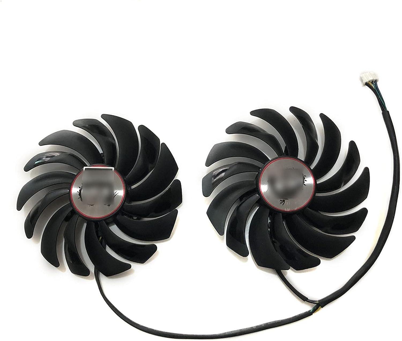 2 unids/Set GTX 1060 1080 1070 VGA GPU Refrigerador de refrigeración Ventilador para MSI GTX1080 / GTX1070 / GTX1060 Gaming GPU GPU Tarjeta de refrigeración de la Tarjeta