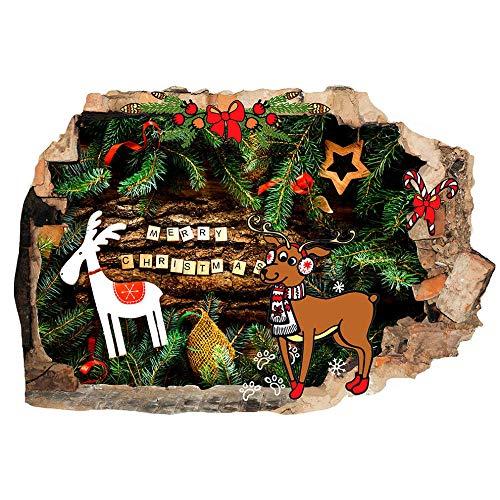 Calcomanías Etiqueta de la pared Guirnalda navideña Pasillo Pegatinas de pared Dormitorio Niñas Niños Sala de estar