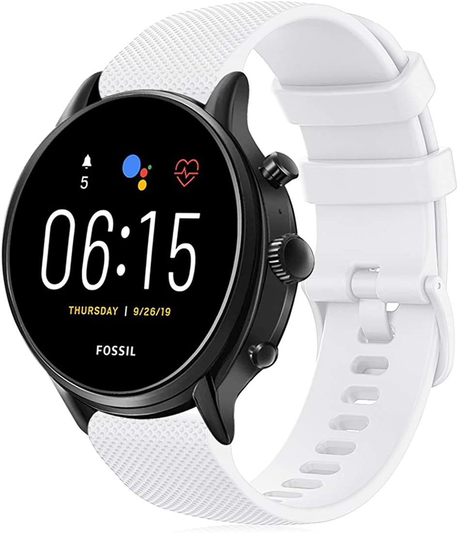 RIOROO Correa Compatible para Garmin Vivoactive 4,Correa Compatible para Fossil Smartwatch Gen 5 / 4 para Hombre Strap 22mm Sport Silicona Repuesto Accesorios (sin Reloj)