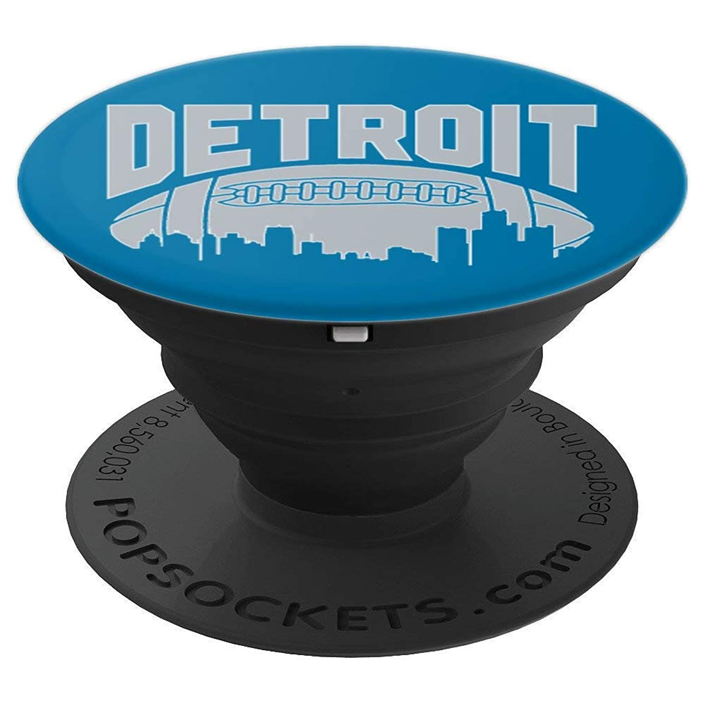 Detroit, Michigan - Lion Football Gift - PopSockets Grip and Stand for Phones and Tablets