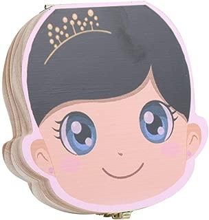 MXECO Creativo Scatola di immagazzinaggio di denti per bambini Scatola di immagazzinaggio di denti per bambini in legno Scatola per denti da latte Conservare per ragazze Ragazzi