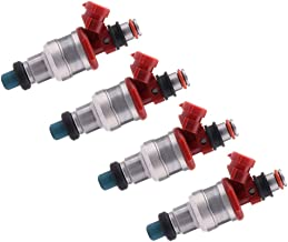 ROADFAR Fuel Injectors Parts, 2 Hole Engine Fuel Injector Kits Fit for 1989 1990 1991 1992 1993 1994 1995 Toyota 4Runner Toyota Pickup 23250-35040,Set of 4