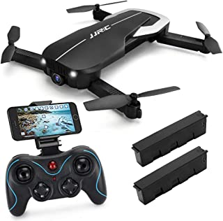 Drones with Camera 1080P for Adults,JJRC H71 WiFi FPV Live Video Quadcopter for Beginners, Foldable RC Drone RTF - Optical Flow Position Altitude Hold, Foldable Arms, APP Control