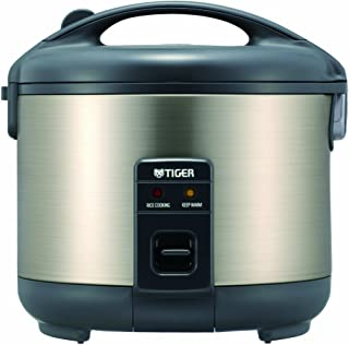 Tiger JNP-S18U-HU 10-Cup (Uncooked) Rice Cooker and Warmer, Stainless Steel Gray