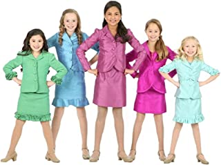 Girls' Custom Made Two Pieces Outfits Pageant Dress Interview Suits