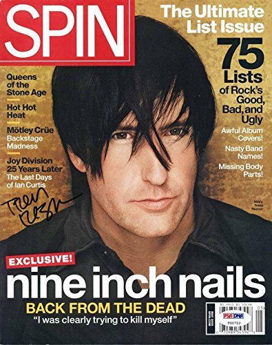Trent Reznor Signed May 2005 Spin Magazine Authentication T50752 - PSA/DNA Certified - Music Magazines
