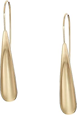 Gold Sculptural Stick Earrings