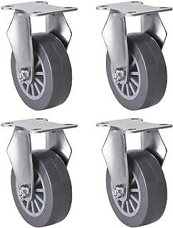 2 inch kleine wielen X4, platte stille rubberen meubelwielen, gratis laden en lossen, handig en arbeidsbesparend