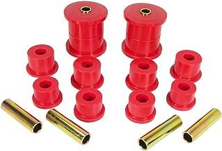 Prothane 1-1007 Red Rear Spring Eye and Shackle Bushing Kit
