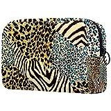 Bolsa cosmética compacta Bolsa de Maquillaje Monedero, patrón de Tigre Leopardo