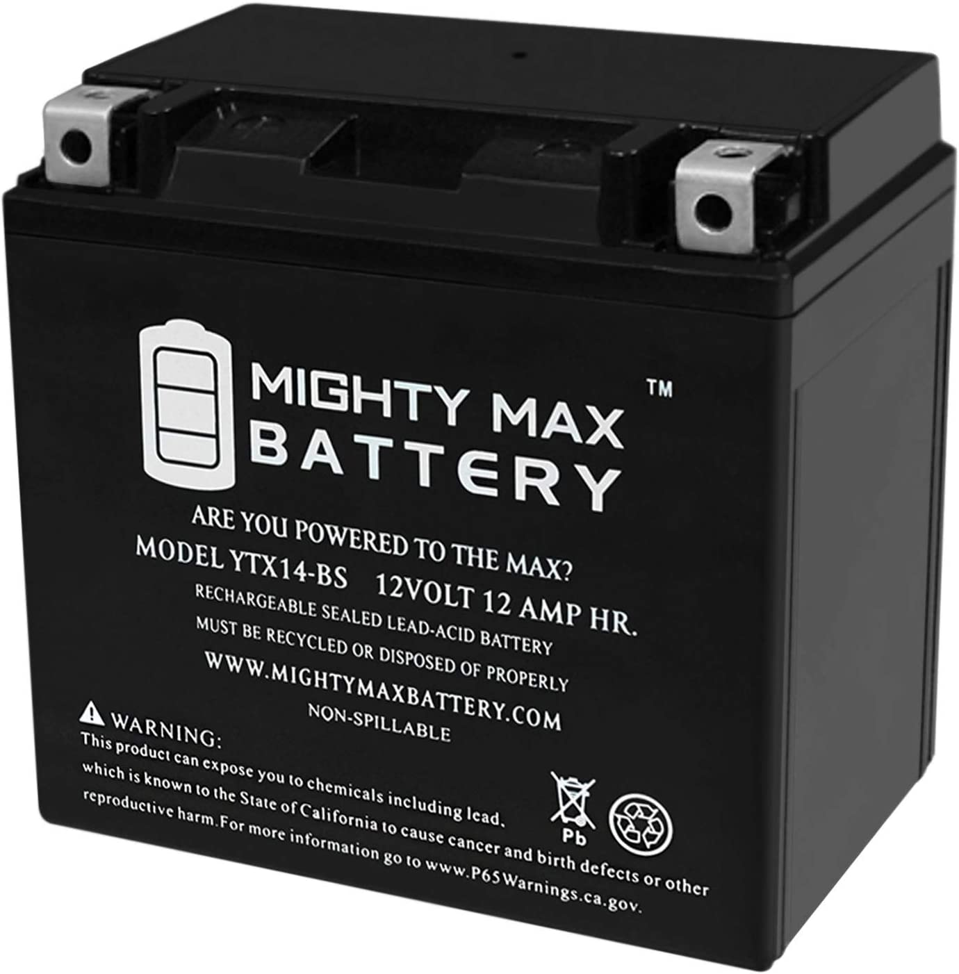 Mighty Max Battery Free Shipping New Super Special SALE held YTX14-BS Replacement 700 for Pi Honda