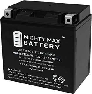Mighty Max Battery YTX14-BS Replacement Battery for Honda GL1500 Valkyrie 97-03 Brand Product