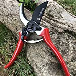 "gonicc 8"" Professional Sharp Bypass Pruning Shears (GPPS-1002), Tree Trimmers Secateurs,Hand Pruner, Garden Shears,Clippers for The Garden. 9 Drop forged body and handles, quality blade made of high carbon steel with Ultra-fine Polishing Technology. Ideal for deadheading, trimming, shaping on tree, roses, annuals, vegetable, flower gardens, bonsai and other plants. Ergonomically designed non-slip handles are strong,lightweight,and comfortable."