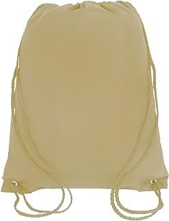 Sponsored Ad - Bulk Drawstring Backpack Bags Sack Pack Cinch Bag Tote Sport Storage for Gym Traveling