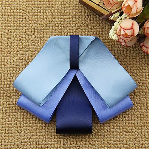 THTHT Shirt Vlinder Hals Tie Lint Boog Broche School Dames Tops en Blouses Kraag Doek Art Dames Accessoires Blauw