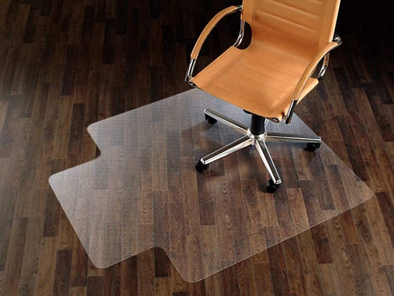 Office Chair mat for Hardwood Floor,Office Floor Predection Plastic Mat and Lip, Clear PVC Plastic,Suitable for Carpet and Floor Predect(35 x47 )