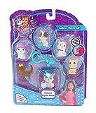 Kitty In My Pocket Kitties & Blue Clip On Bolsa  5 Gatitos incluidos