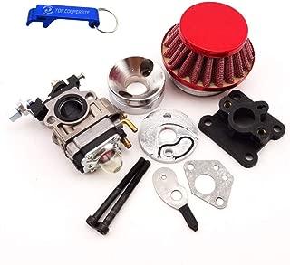 TC-Motor Racing Carburetor Kit Carb Air Filter Stack Manifold Intake Pipe For 2 Stroke 47cc 49cc Mini ATV Quad Kids Dirt Pocket Bike